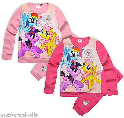super My Little Pony mini Rosa Pigiama Bambina ORIGINALE cotone 100% 4-8anni