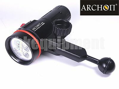 Archon D35VP W41VP Cree XM-L2 U2 UV RED Diving Underwater Video Torch+Arm SET