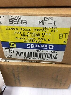 Square D 9998 MF-1 Contact Kit Size 4 New Old Stock