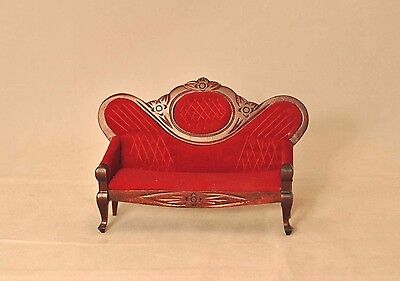 VICTORIAN SOFA - wood T3601 miniature dollhouse furniture 1pc 1/12 scale