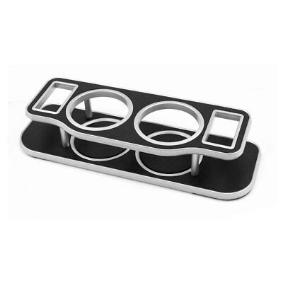 Car Plastic Double Hole Cup Bottle Can Drink Bracket Holder