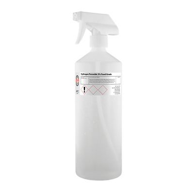Food Grade Hydrogen Peroxide 3% 500ml with Trigger Spray - FAST DISPATCH