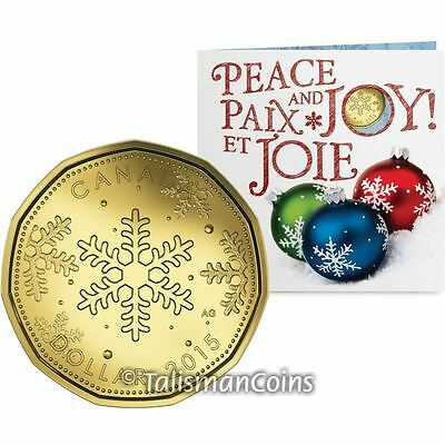 Canada 2015 Holiday 5 Coin Mint Christmas Gift Set w $1 Snowflakes Loonie Dollar