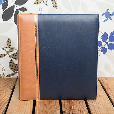 Classic Traditional Royal Blue Photo Album - Fits Any Photo Size Upto 12X10 Inch