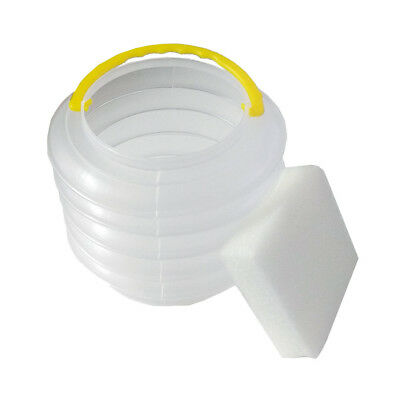 Small Collapsible Lantern Artist's Brush Washer Pot with Sponge (10cm)