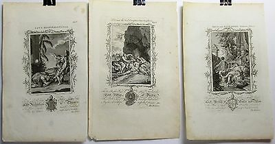 A Trio of Old Testament Prints, Late 18th Century