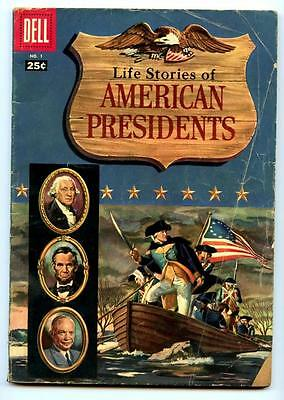 Life Stories of American Presidents #1 (1957) Dell  G/G+