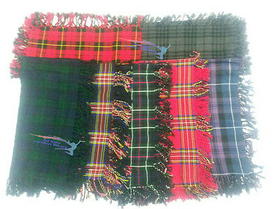 "Men Tartan Kilt Royal Stewart Fly Plaid / Black Watch Kilt Fly Plaids 48""X 48"""