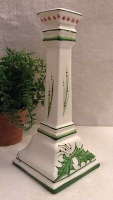 Gorgeous VTG Hand Painted Signed Candle Holder/ Candlestick  - Portugal