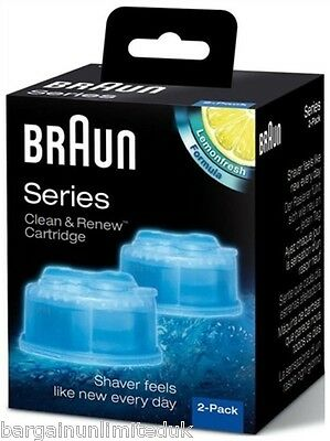 Braun CCR2 Clean and Renew Mens Electric Shaver Hygienic Refill Cartridge 2 Pack