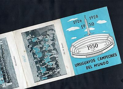1950 Fifa World Cup Uruguay Original Commemorative Fixture Poster Historical