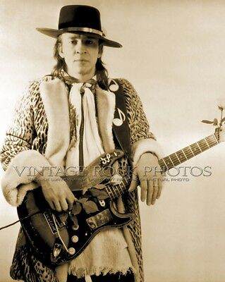 Stevie Ray Vaughan, Photo 8x10 or 8x12 inch 1980's Live Candid Studio Print 84s