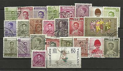 THAILAND STAMP COLLECTION & PACKET of 25 DIFFERENT Mostly Used NICE SELECTION
