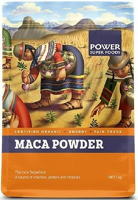 Power Super Foods MACA Root Powder 1kg Certified Organic, Vegan