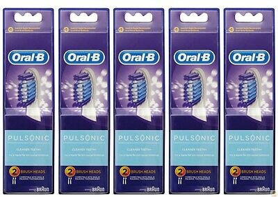 10x ORAL-B TOOTHBRUSH REPLACEMENT HEADS Braun Pulsonic Electric Brush Refills