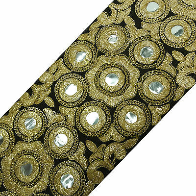 Indian Embroidered Fabric Trim 13.4 Cm Wide Crafting Sewing By The Yard FT807A