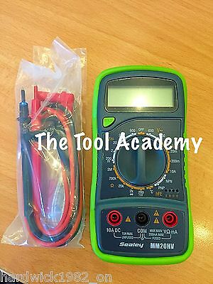 Digital Multimeter multi meter 8 Function with Thermocouple Hi Vis Bright Green