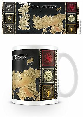 Official Game Of Thrones Map House Sigil Mug GOT Boxed Ceramic Cup Gift