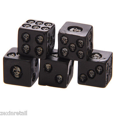 GOTHIC SKULL DICE SET - Dice With Death - Rapid Same Day Despatch