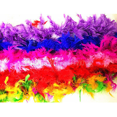 Feather Boa Hen Night Party Fancy Dress Party Fluffy Craft Costume Wedding 2M UK
