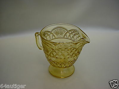 "Amber Depression Glass Creamer - Federal Glass Company ""Mayfair"" c:1934"