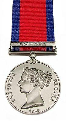 Full Size Military General Service Medal GSM with Barrosa Clasp