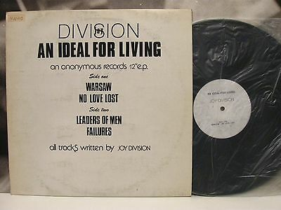 """JOY DIVISION - AN IDEAL FOR LIVING 12"""" EP 1st UNOFFICIAL UK PRESSING 80's"""