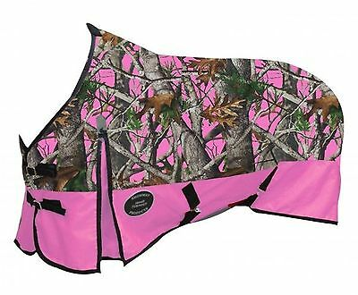 "74"" Showman 1200D Waterproof & Breathable Pink Real Oak Turnout Horse Blanket"