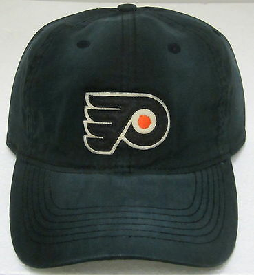 2fdd9d50e4a NHL Philadelphia Flyers Black One Size Fits All Flex Fitted Slouch Hat By  Reebok