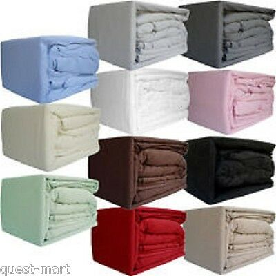 Flannelette Brushed Cotton Duvet Cover Or Sheet Set (Fitted Flat+Pillow Case ).