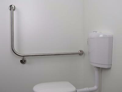Right Angle Stainless Steel Hand Rail 96x60cm*Safety Grab Bar*Wheelchair Toilet