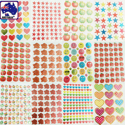 20 Sheets Cartoon Stickers Kid Decal Adhesive Decor Scrapbook Gift STAGS 07