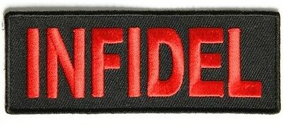 Infidel Patch Sew/iron  Leather Biker Men's Vest Patch Motorcycle Harley Chopper