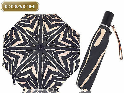 NEW Coach Zebra Print Umbrella F63326 NEW WITH TAG