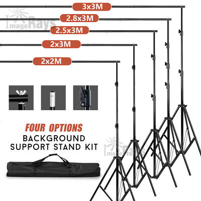 4 Size Photography Background Support Set Backdrop Stand Kit With Free Carry Bag