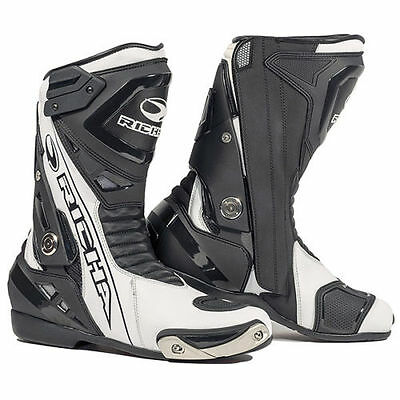 Richa Blade Waterproof Motorcycle Motorbike Road Race Boot - Black / White