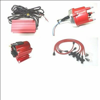 VW Type 1 & Type 4 Pro Series Billet Distributor and CDI Kit & Red Taylor Wires