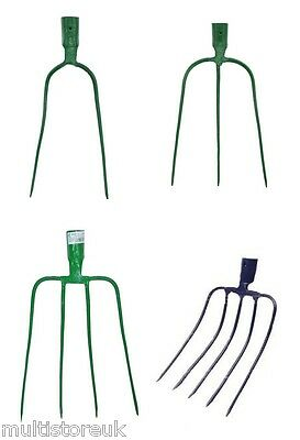 Metal Muck Fork Head For Stables Farms Horses Pigs Lightweight Steel Straw Hay