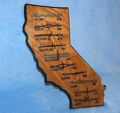 Antique Barbed Wire Styles 1800's Stamped Numbered Chandler Oklahoma State