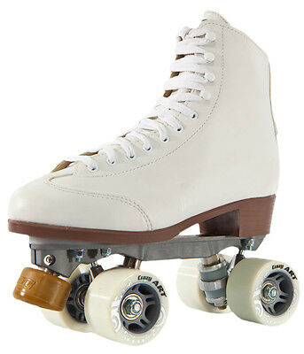 Crazy Celebrity Art Mens/Ladies Artistic Roller Skates - White - Size 43