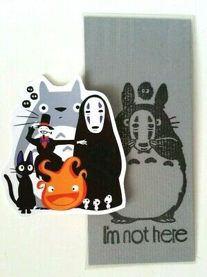 Studio Ghibli Totoro Calcifer PVC Sticker + FREE Handmade Totoro Bookmark