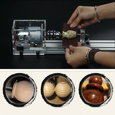 Woodworking DIY Mini Lathe Beads Polisher Table Saw Cutting Drill Rotary Tool