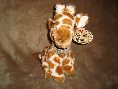 "Yomiko Classics Giraffe  Plush and Beans 9"" tall"