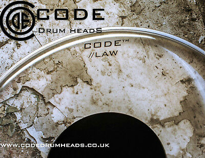"CODE ""Law"" Single Ply Clear Black Dot Drum Tom Head 6""/8""/10""/12""/13""/14/16""/18"""