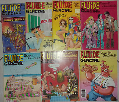 Lot 7 Fluide Glacial Special Annee 1986 - 87