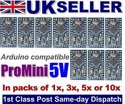 Arduino 5v Pro mini compatible boards Multipacks NEW & TESTED UK STOCK