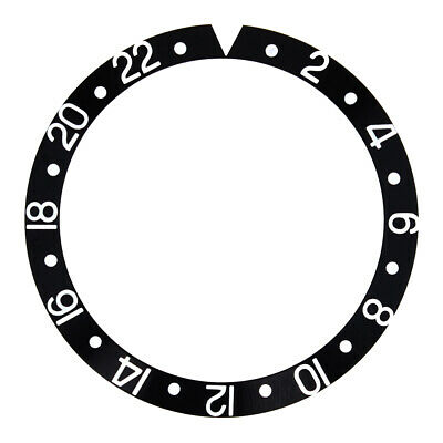 Bezel Insert For Invicta Ss 8926Ob Gmt Black Silver Font