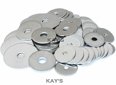 Penny Repair Washers Zinc Plated Bzp Steel For Bolts & Screws M5 M6 M8 M10 M12