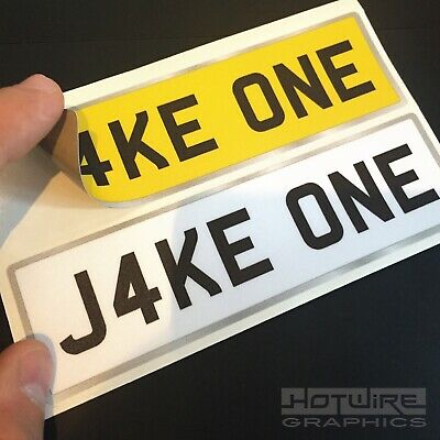 Personalised Children's NUMBER PLATES FOR KIDS RIDE ON CAR or JEEP (PLAIN STYLE)
