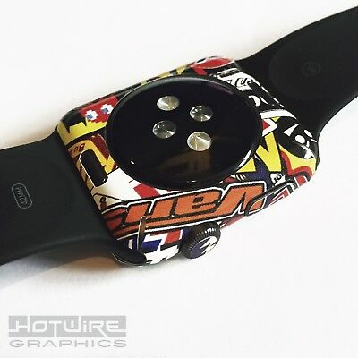 APPLE WATCH Stickerbomb Print Skin Wrap - 42mm ONLY Armour Protection UK Made